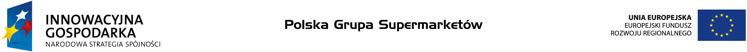 Kontakt- Innowacyjna Gospodarka, Unia Europejska, Polska Grupa Supermarketów PGS - duże logo